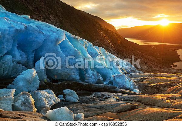 Glacier in Norway - csp16052856