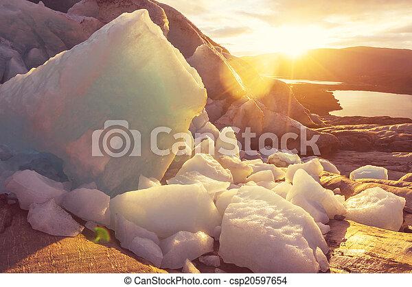 Glacier in Norway - csp20597654