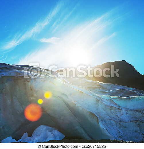 Glacier in Norway - csp20715525