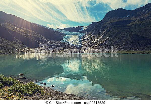 Glacier in Norway - csp20715529