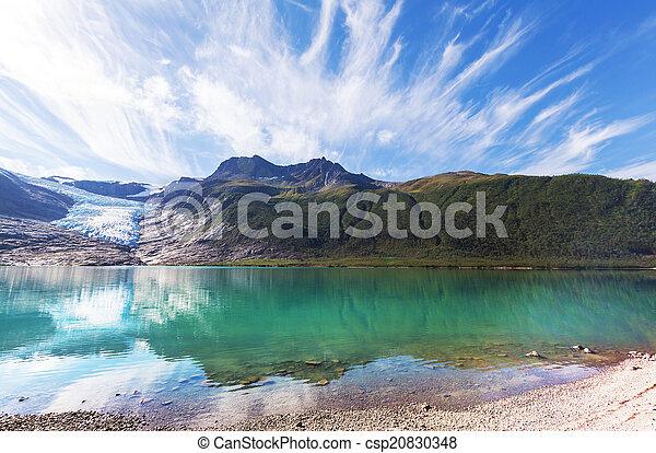 Glacier in Norway - csp20830348