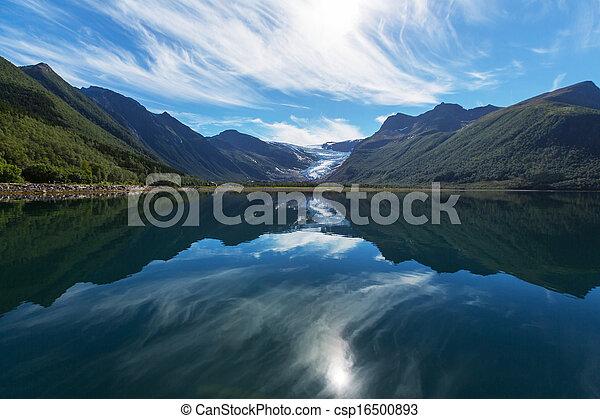 Glacier in Norway - csp16500893