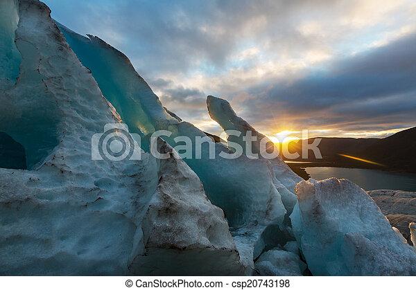 Glacier in Norway - csp20743198