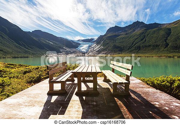 Glacier in Norway - csp16168706