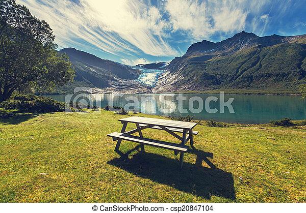 Glacier in Norway - csp20847104