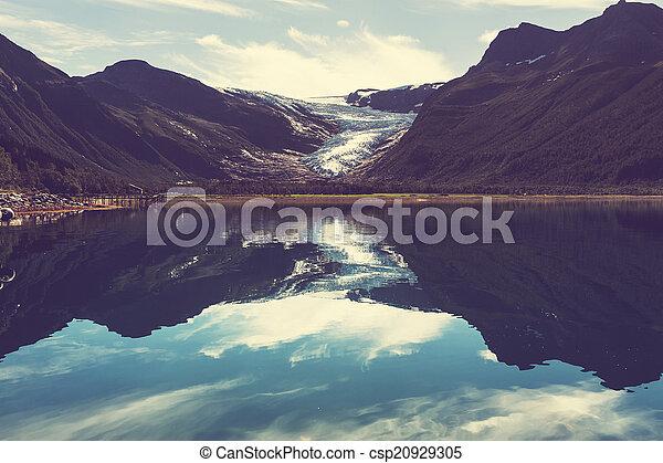 Glacier in Norway - csp20929305