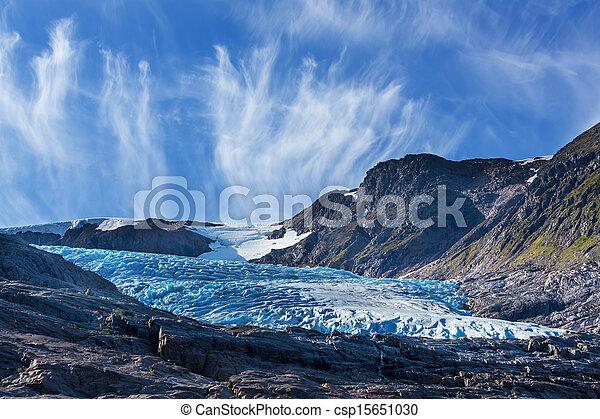 Glacier in Norway - csp15651030