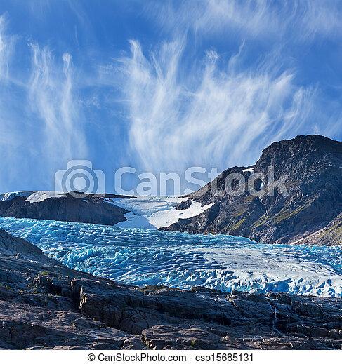 Glacier in Norway - csp15685131