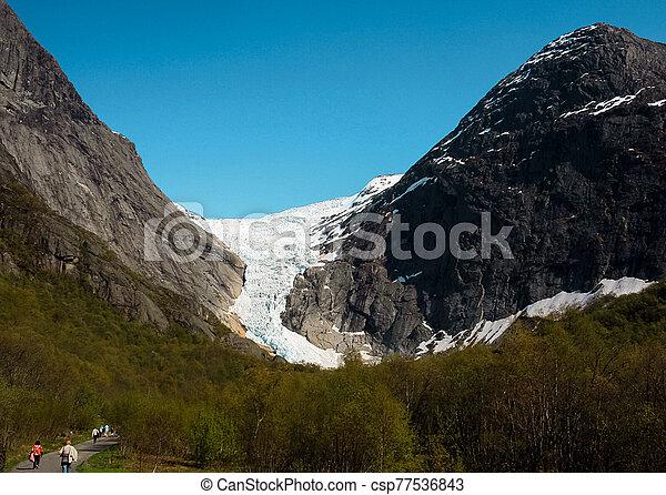 Glacier in summer, Norway - csp77536843