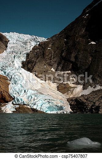 Glacier in summer, Norway - csp75407807