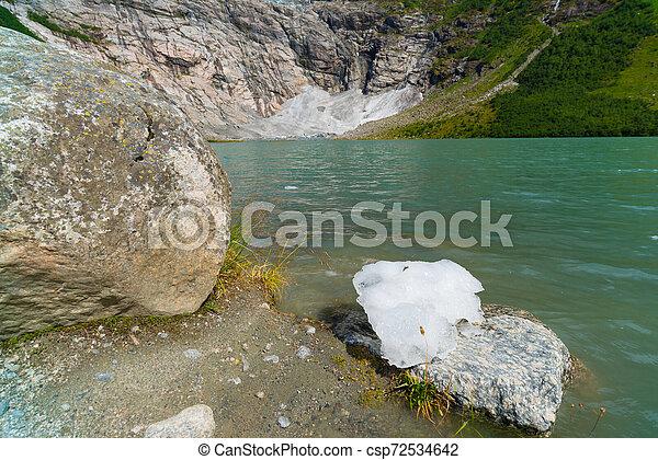glacier lake in norway - csp72534642