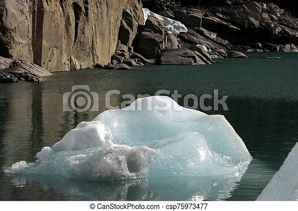 Glacier melting in Norway - csp75973477