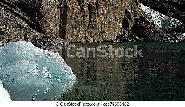 Glacier melting in Norway - csp79600482