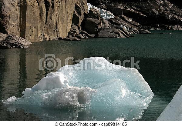 Glacier melting in Norway - csp89814185