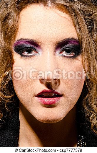glam rock woman - csp7777579