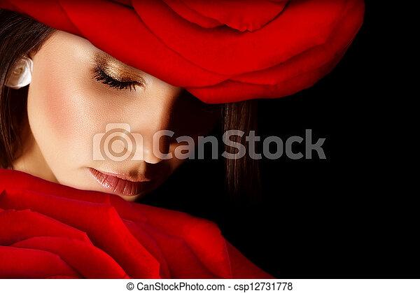 Glamorous woman - csp12731778