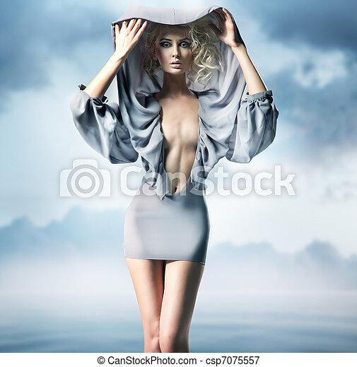 glamour, mulher - csp7075557