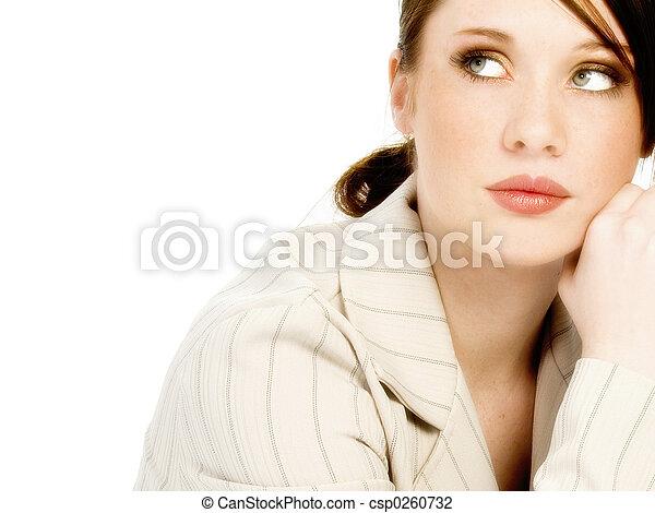 glamour, mulher, jovem - csp0260732