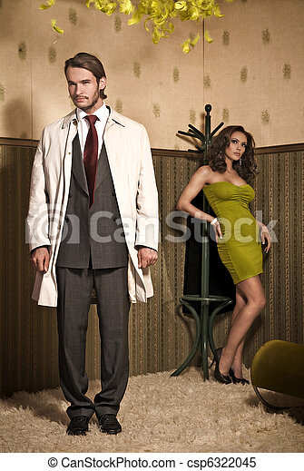 Glamour style photo of an attractive couple - csp6322045