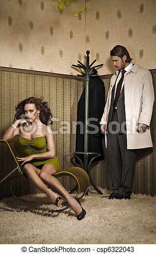 Glamour style photo of an attractive couple - csp6322043
