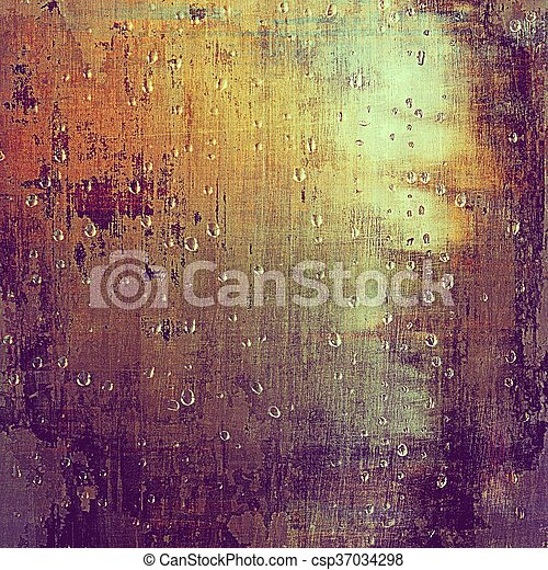 Glamour vintage frame, decorative grunge background. Aged texture with different color patterns: yellow (beige); brown; red (orange); purple (violet); pink; cyan - csp37034298