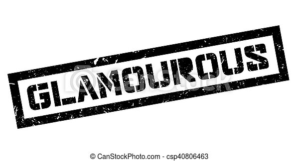 Glamourous rubber stamp - csp40806463