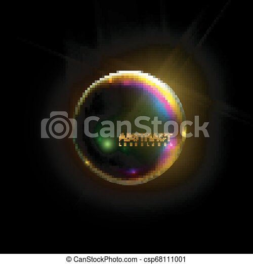 glanzend, sphere., iridescent - csp68111001