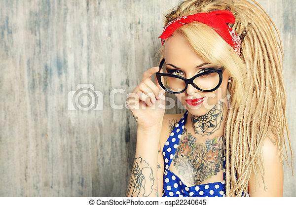 glasögon, pinuppa - csp22240645