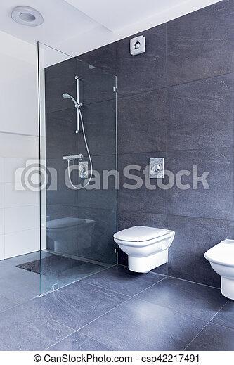 Granit Dusche glas badezimmer asketisch granit kombinieren groß