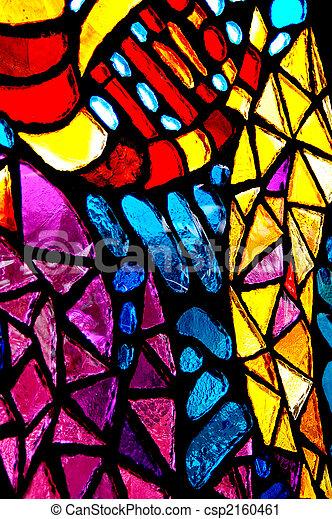 glas, bevlekte, kleurrijke, abstract. - csp2160461