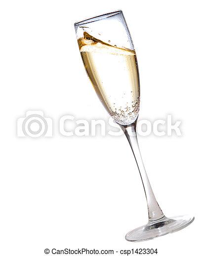 glas, champagne - csp1423304