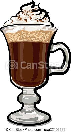 Lige ud Glas, irsk kaffe. RV34
