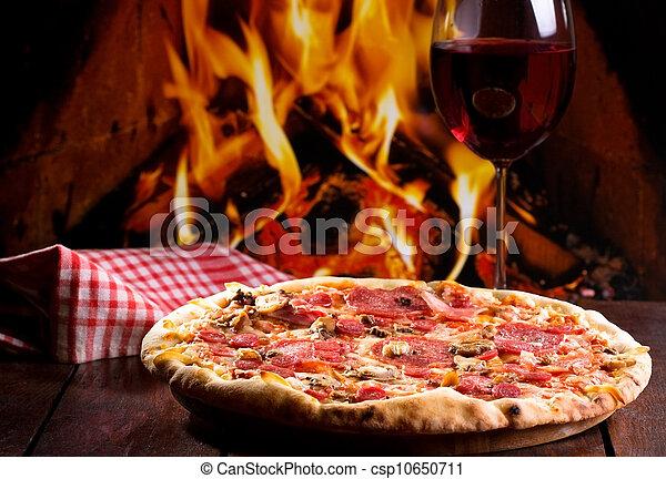 Pizza Wein