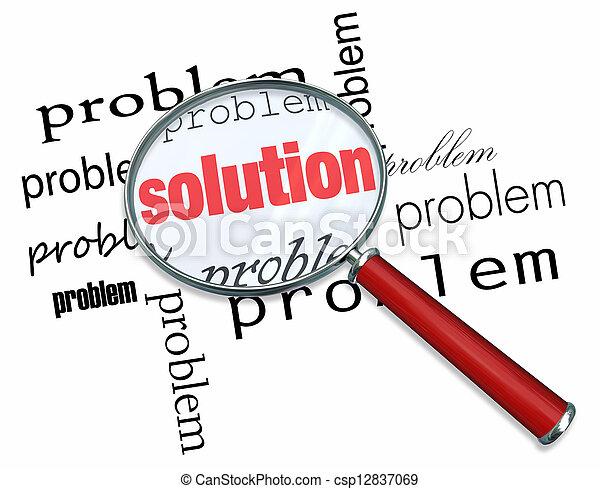 glas, probleem, -, oplossing, vergroten - csp12837069