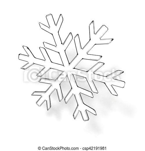 glas sneeuwvlok grijs witte sneeuwvlok glas