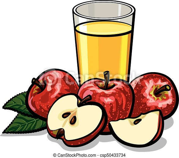 illustration of fresh glass apple juice with ripe apples vectors rh canstockphoto com