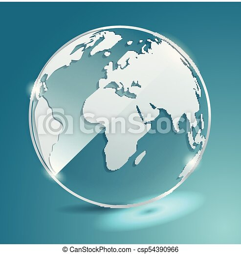 Glass ball with world map earth geographic map globe clip art glass ball with world map earth geographic map globe vector banner gumiabroncs Image collections