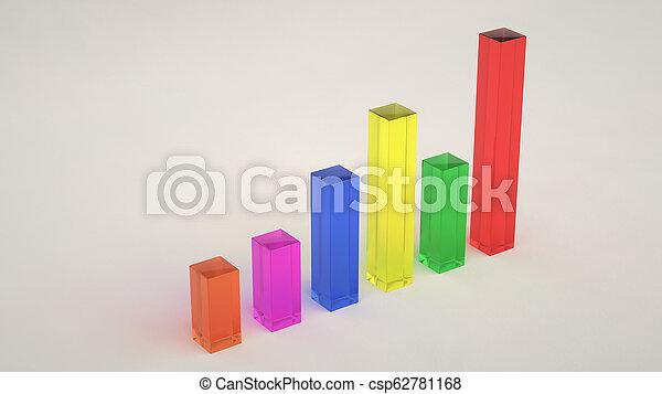 Glass bar diagram on white background - csp62781168