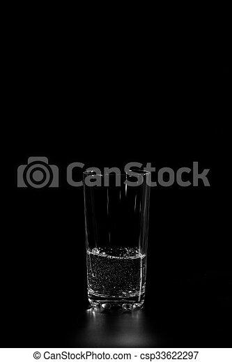 glass beaker with fresh water - csp33622297