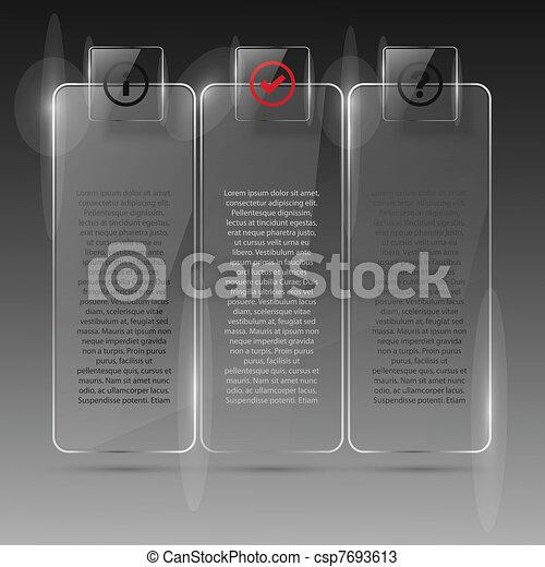 Glass billboard. Vector illustration. Eps10 - csp7693613