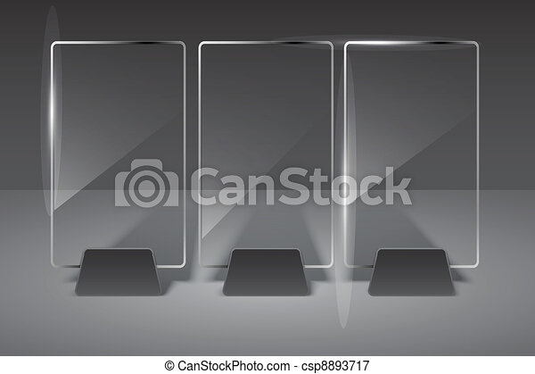 Glass billboard. Vector illustration. Eps10 - csp8893717