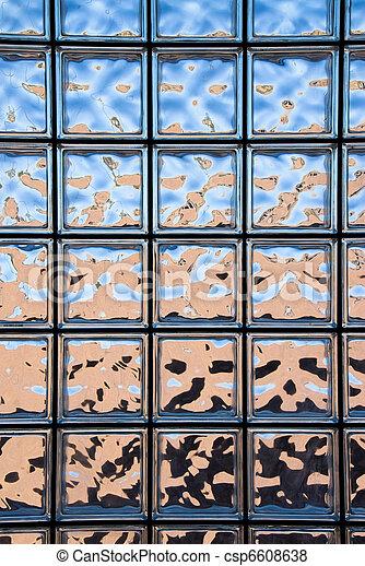 Glass Block Window A Glass Block Window Looking Outside Of A Custom