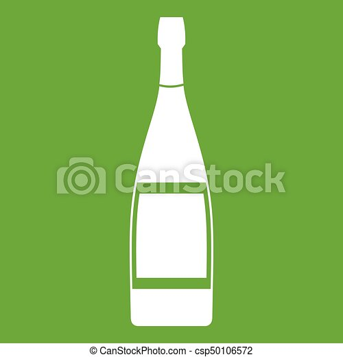 Glass bottle icon green - csp50106572