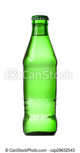 glass bottle isolated on white background - csp29632543