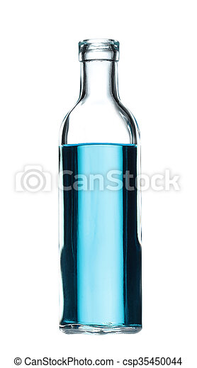 glass bottle isolated on white background - csp35450044