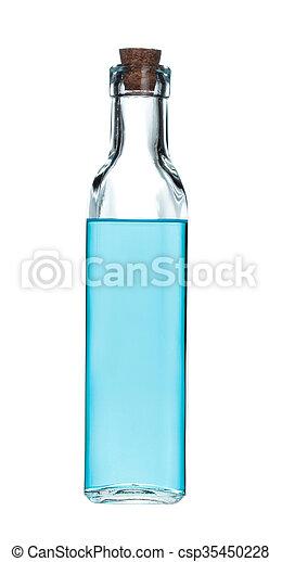 glass bottle isolated on white background - csp35450228