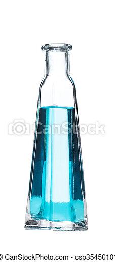 glass bottle isolated on white background - csp35450101