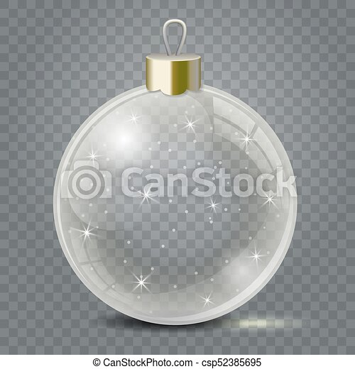 glass christmas toy on a transparent background stocking christmas decorations or new years