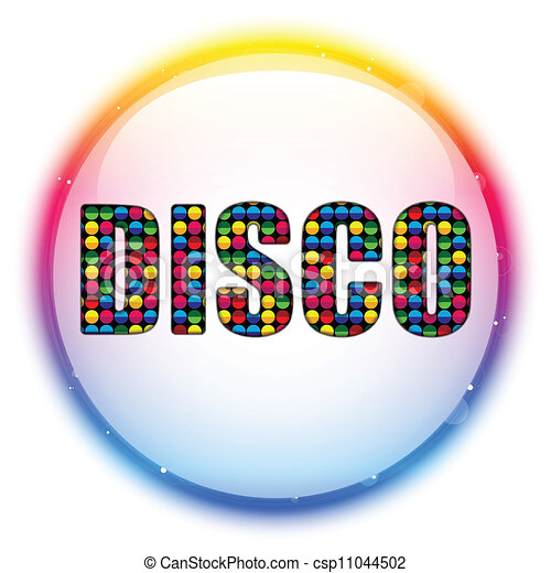 vector glass circle color disco ball rh canstockphoto com disco clipart 70s disco clip art images