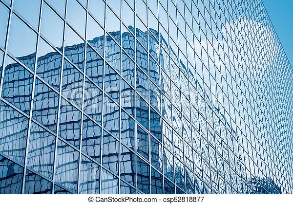 Glass Curtain Wall Closeup Glass Curtain Wall Modern